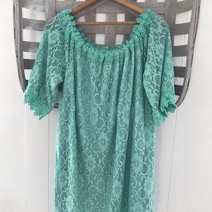 • Umgee spring mint lace shift dress •